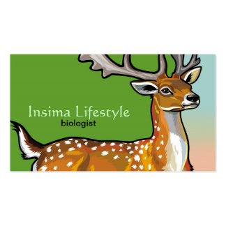 animal fallow deer Double-Sided standard business cards (Pack of 100)