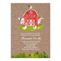 Animal Farm Baby Shower Invitation