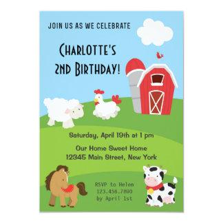 Animal Farm Birthday Invitation Colorful