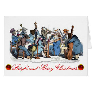 ANIMAL FARM ORCHESTRA CHRISTMAS HOLIDAY PARTY GREETING CARD