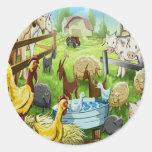 Animal Farm Round Sticker