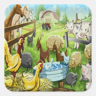 Animal Farm Square Sticker