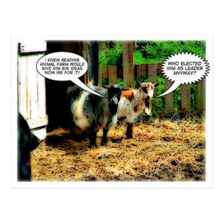 Animal Farm : The Revolution begins! | Comic Book Postcard