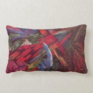 Animal Fates by Franz Marc, Vintage Cubism Art Lumbar Pillow