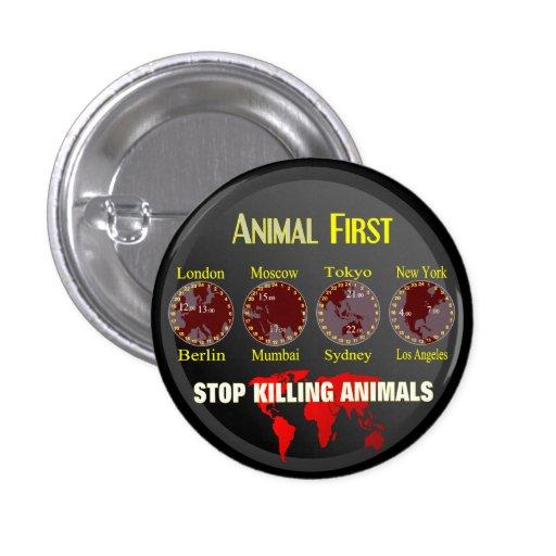 Animal First Pinback Button