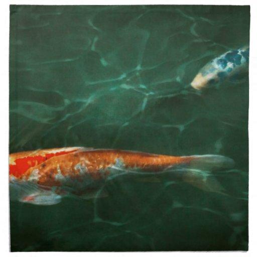 Animal - Fish - Koi - Another fish story Napkin