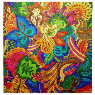 ANIMAL FLOWERS NAPKIN