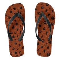 Animal Footprint Flip Flop