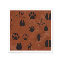 Animal Footprint Napkins