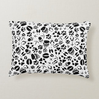 Animal Footprints Accent Pillow