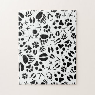 Animal Footprints Jigsaw Puzzle