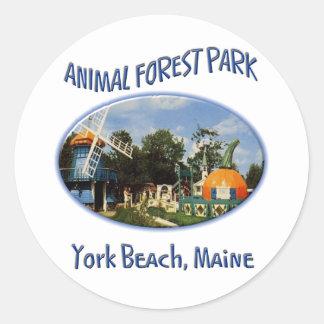 Animal Forest Park Classic Round Sticker