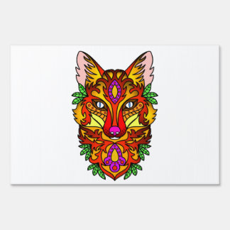 Animal Fox Sign
