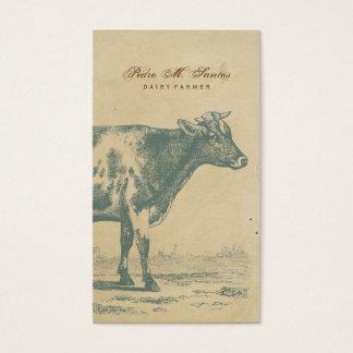 Animal fresco rústico simple de la vaca lechera tarjetas de visita