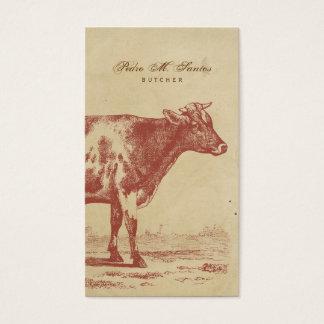 Animal fresco simple rústico de la vaca de leche tarjetas de visita
