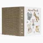 Animal Friends Baby Book, Photo Album Binder