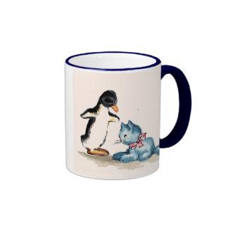 Animal Friends Ringer Mug