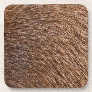 Animal Fur Beverage Coasters
