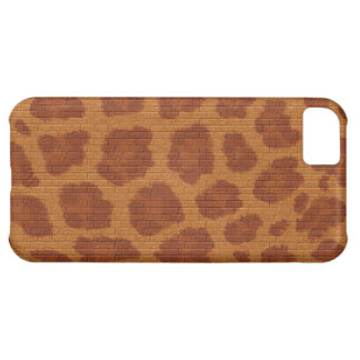 animal fur color and pattern in brick iPhone 5C cover