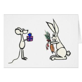 Animal Gift Exchange Custom Message Greeting Card