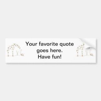 Animal Giraffe - Brown and White Bumper Sticker