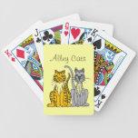 Animal gris anaranjado de los gatos callejeros div baraja cartas de poker