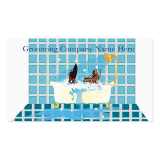 Animal Grooming Appointment Business Card
