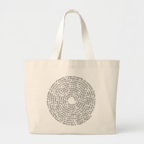 Animal Group Names Large Tote Bag