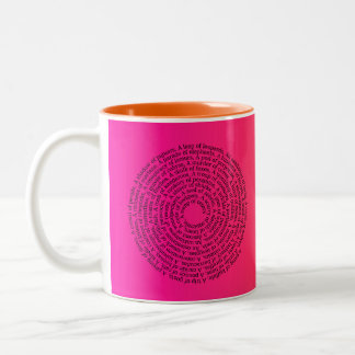 Animal Group Names/Peaceful Coexistence Ombre Two-Tone Coffee Mug