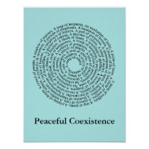 Animal Group Names/Peaceful Coexistence Poster