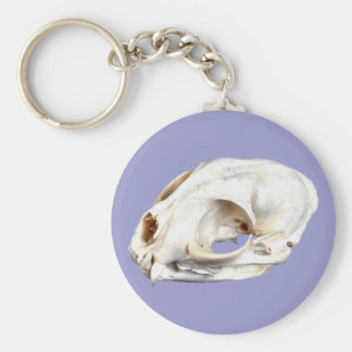 Animal head animal skull basic round button keychain
