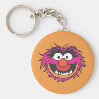 Animal Head Basic Round Button Keychain