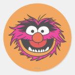 Animal Head Classic Round Sticker