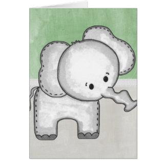 Animal hermoso del parque zoológico del elefante tarjeta de felicitación