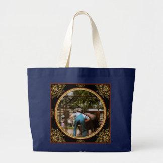 Animal - Hippo - Stupid human tricks 1910 Large Tote Bag