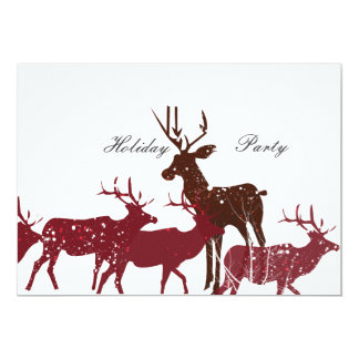 Animal Holiday Snow 5x7 Paper Invitation Card