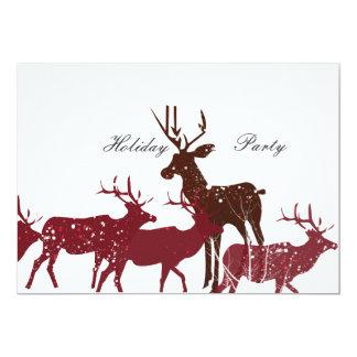 Animal Holiday Snow 5x7 Paper Invitation Card