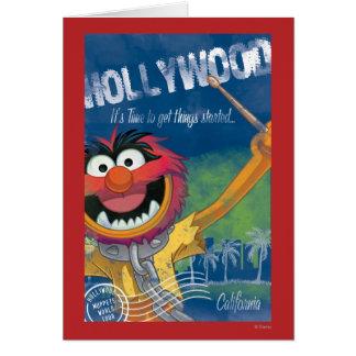 Animal - Hollywood, California Poster Greeting Cards