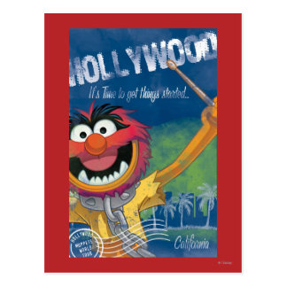 Animal - Hollywood, California Poster Postcard