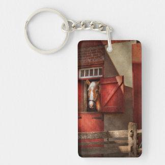 Animal - Horse - Calvins house Rectangular Acrylic Key Chain