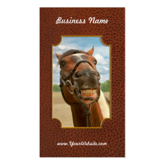 Animal - Horse - I finally got my braces off Business Card
