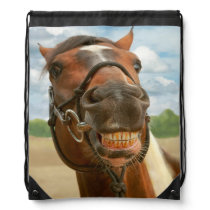 Animal - Horse - I finally got my braces off Drawstring Bag