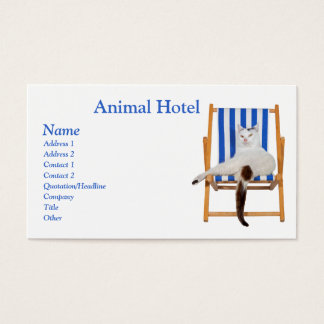 Animal Hotel Business Card