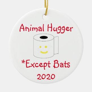 Animal Hugger Except Bats Ceramic Ornament