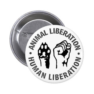 Animal & Human Liberation 2 Inch Round Button