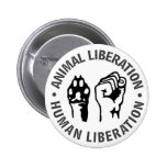 Animal & Human Liberation Button