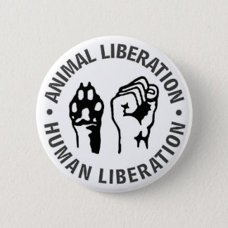 Animal & Human Liberation Pinback Button