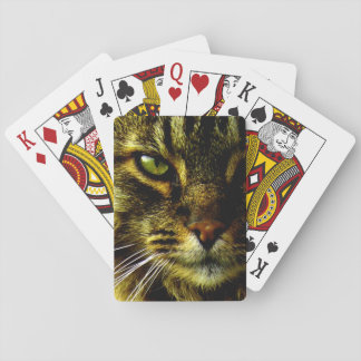 Animal Hypnotizing Cat Eye Photo Playing Cards