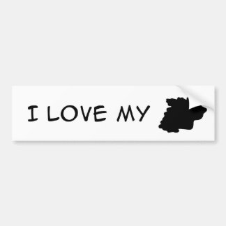 Animal - I love my Irreconizable Blob Car Bumper Sticker