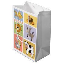 Animal Illustrations custom name kids' gift bag